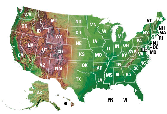 Welcome To The USGS - Clickable map of us